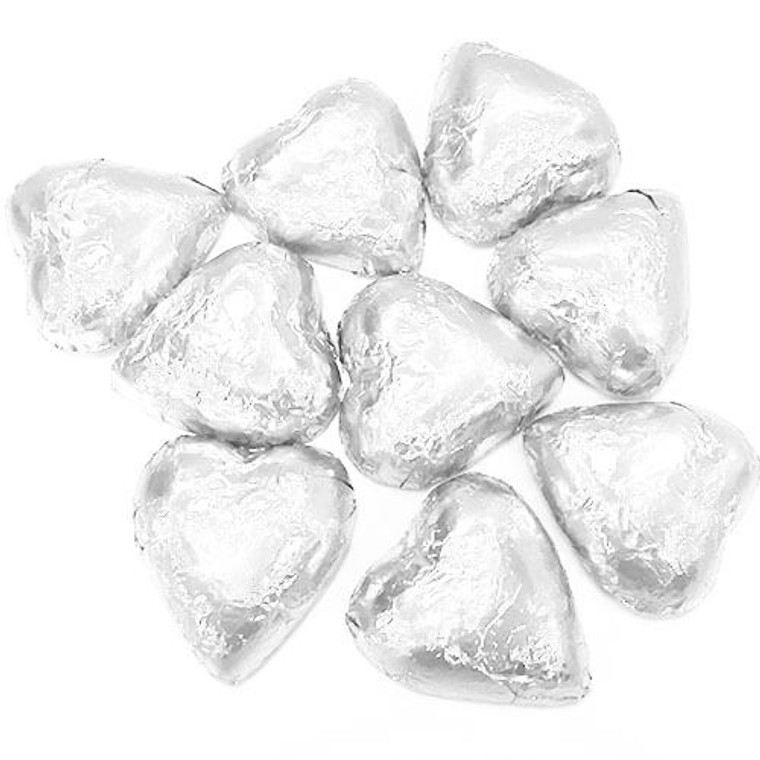 Milk Chocolate Hearts - Silver 1kg