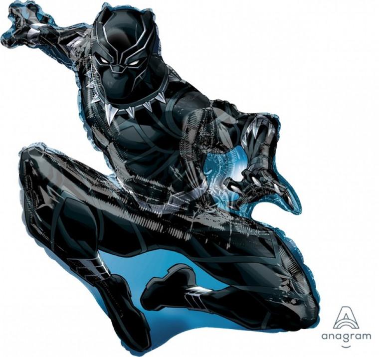 Supershape Balloon - Black Panther