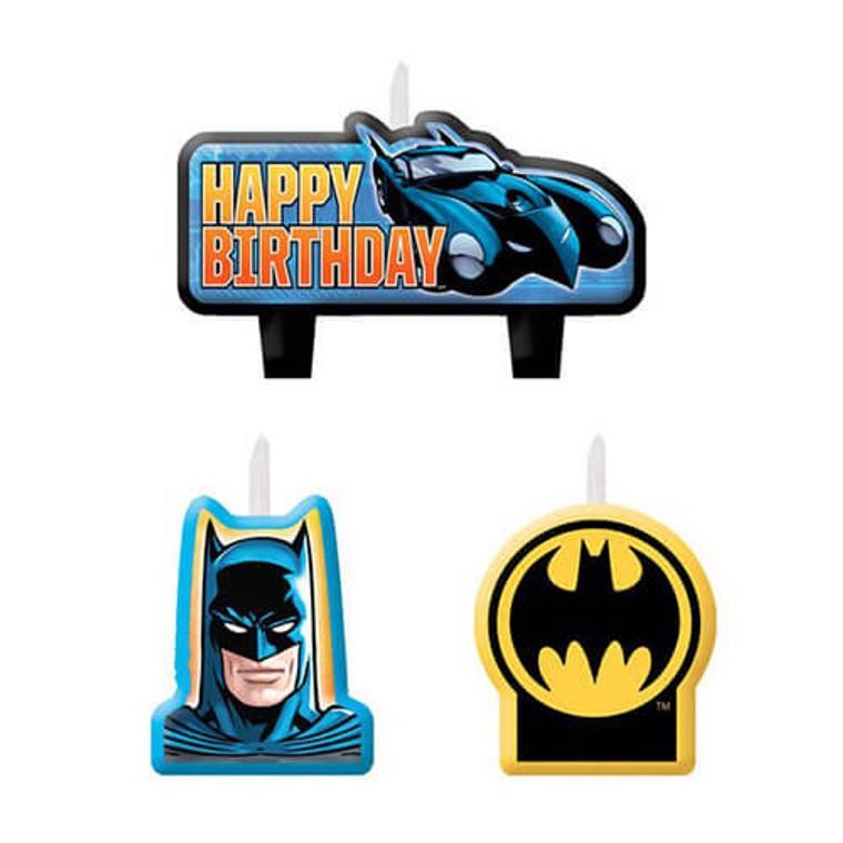 Batman Party Candle Set