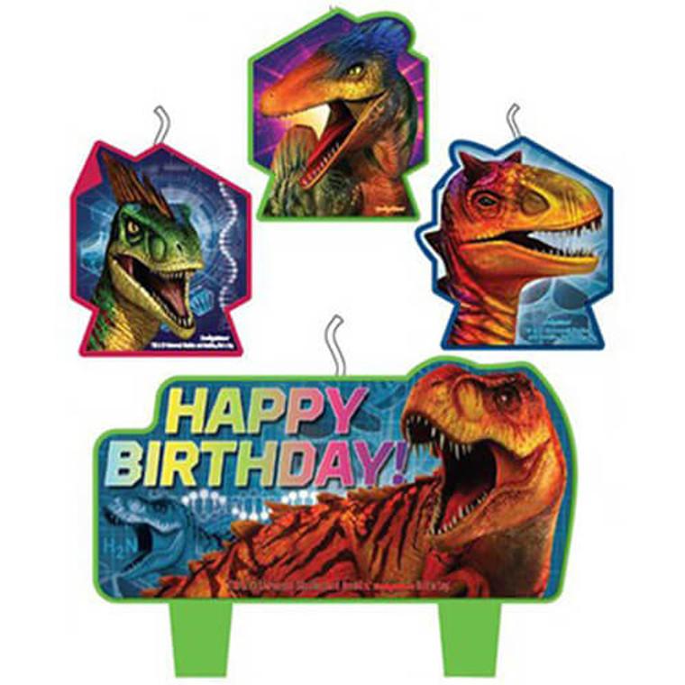 Jurassic World Happy Birthday Candle Set