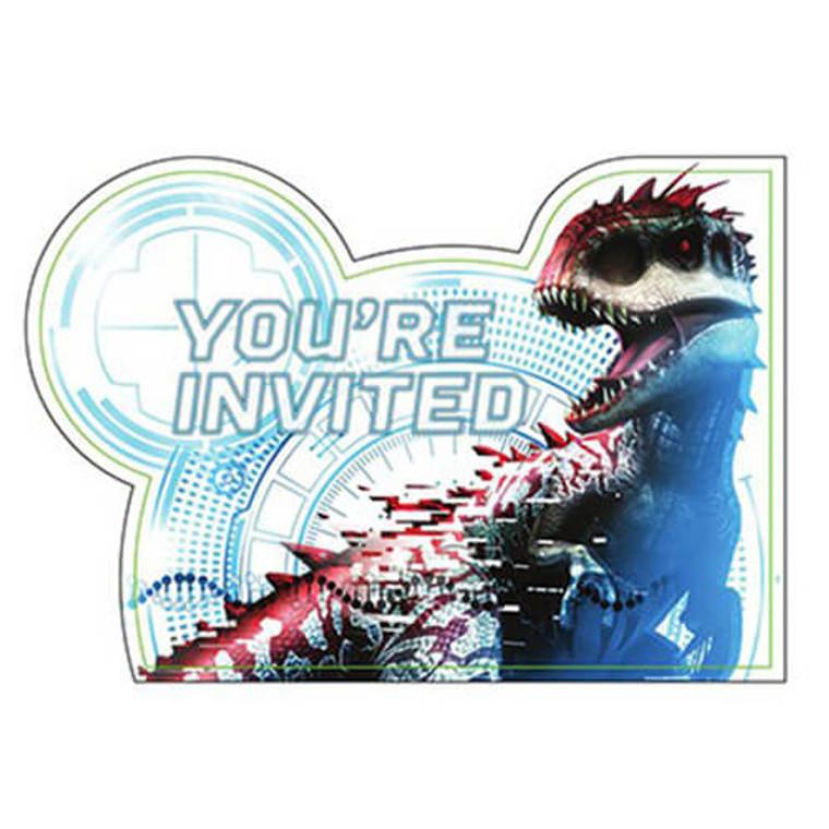Jurassic World Invitations Pk 8