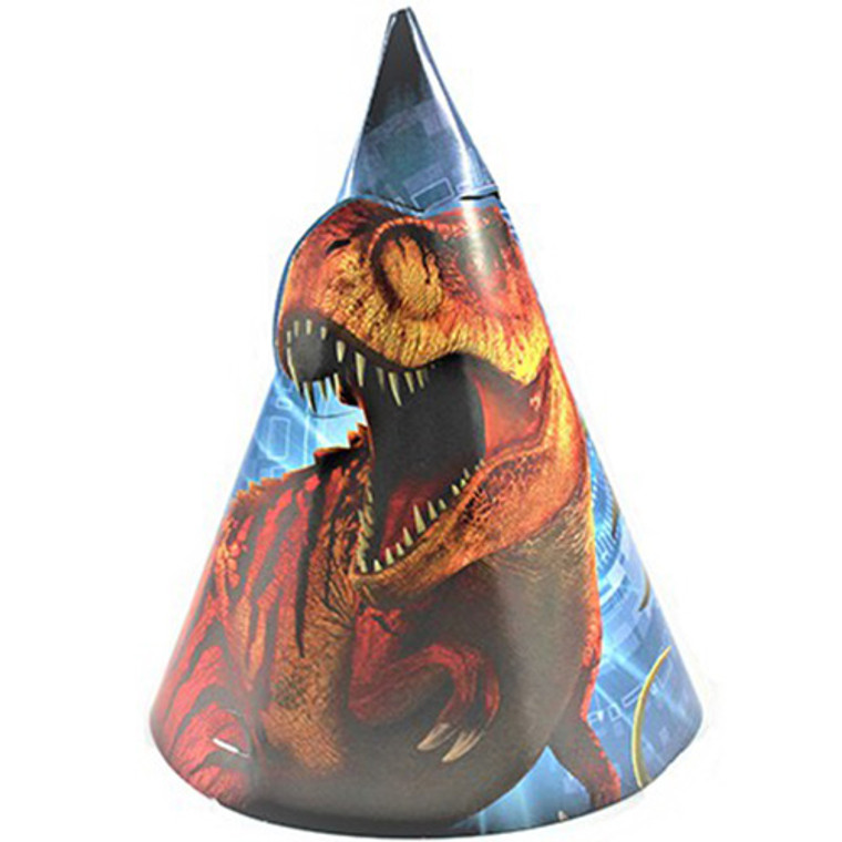 Jurassic World Party Hats Pk 8