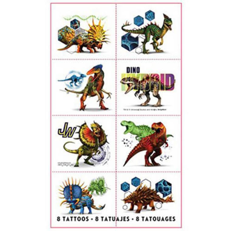 Jurassic World Tattoos - Pk 8