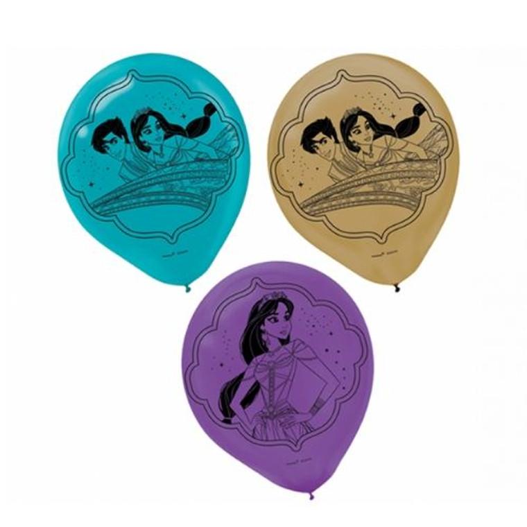 Aladdin 30cm Latex Balloons Pk 6
