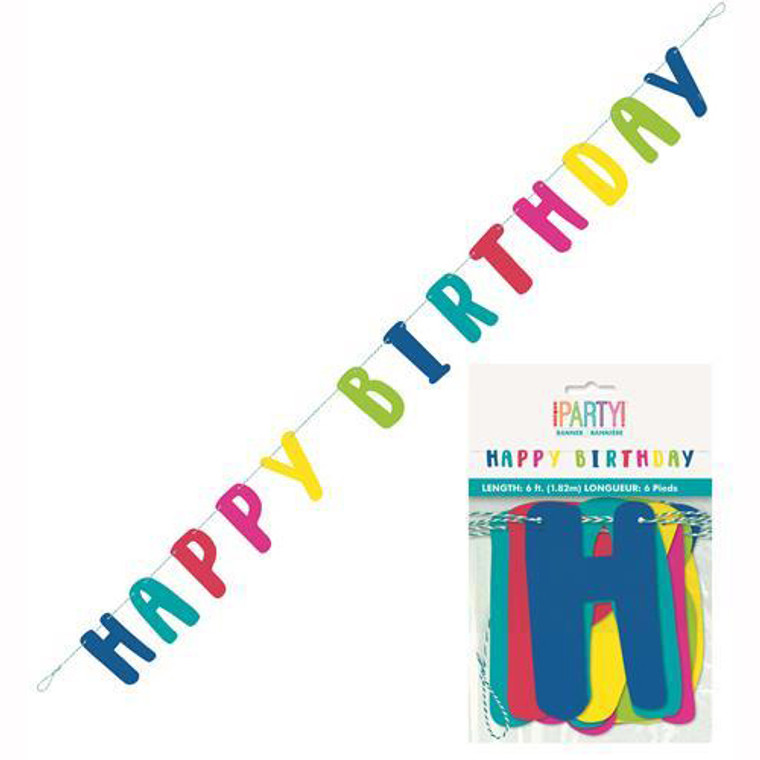 Llama Birthday Happy Birthday Jointed Banner