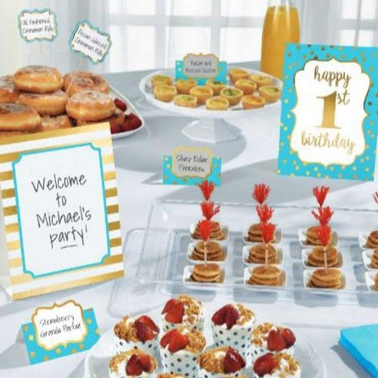 1st Birthday Blue Buffet Decoration Kit