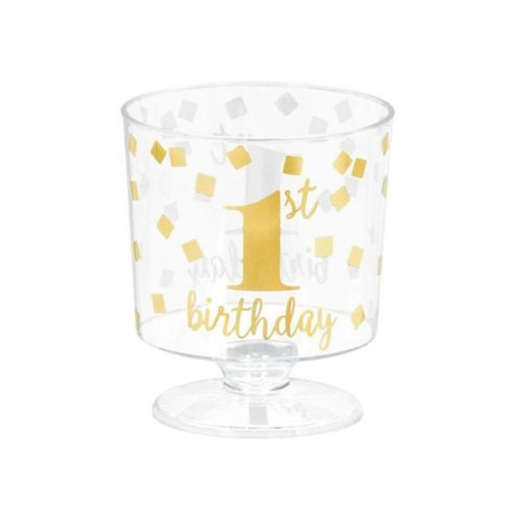 1st Birthday Mini Dessert Cups Pk 30