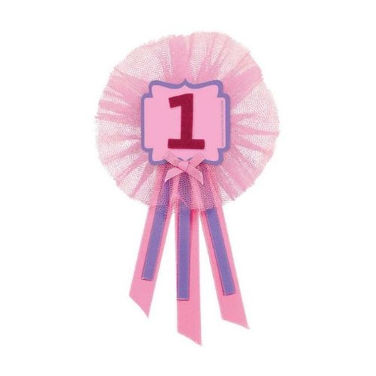 1st Birthday Pink Award Ribbon