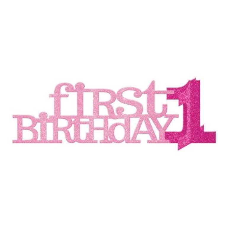 1st Birthday Pink Centrepiece