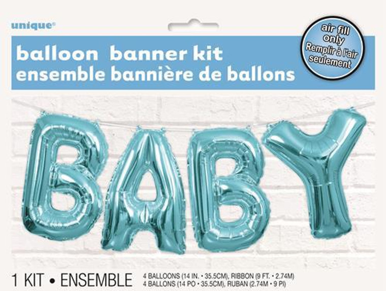 Baby Balloon Banner Blue