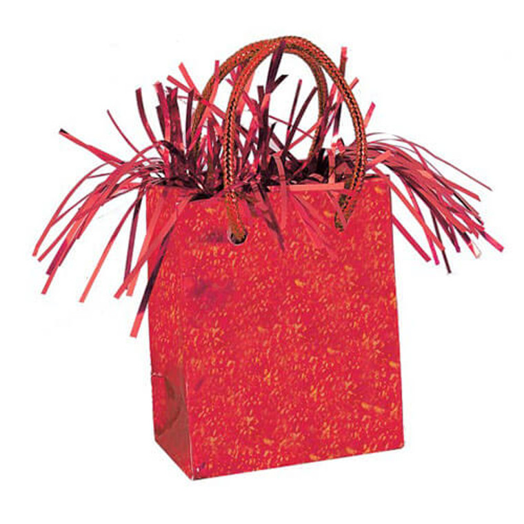 Gift Bag Balloon Weight - Red