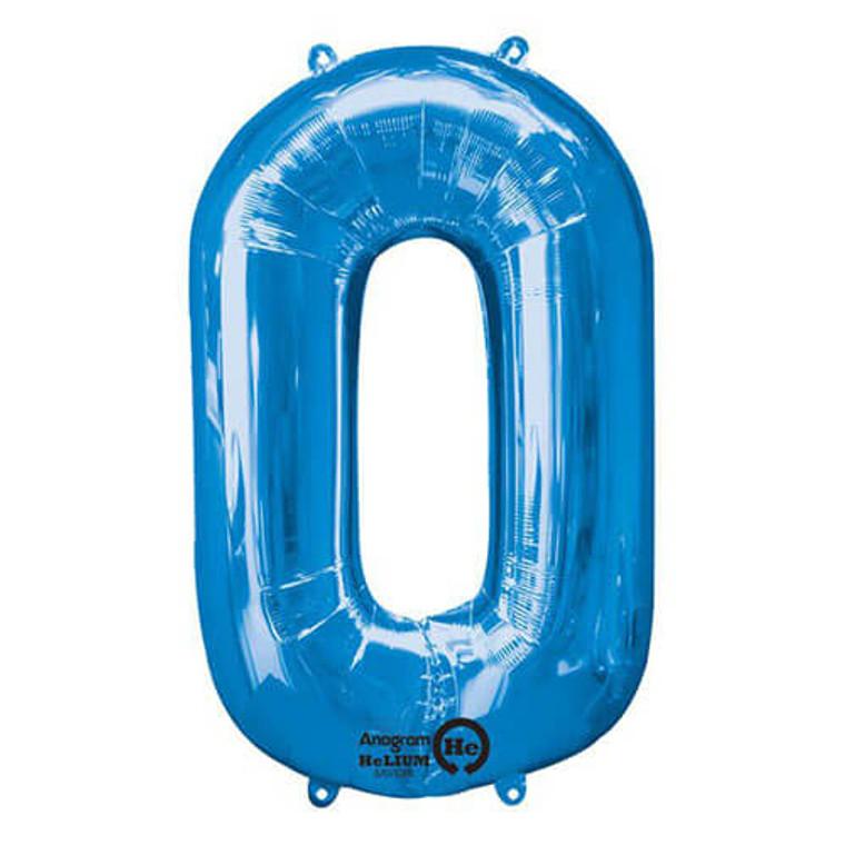 Megaloon Numeric 0 Blue - Premium Balloon