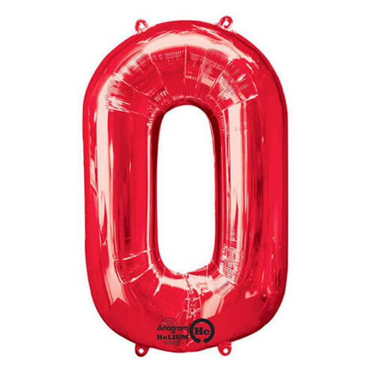 Megaloon Numeric 0 Red