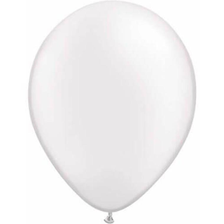 Latex Balloon 12cm - Metallic White