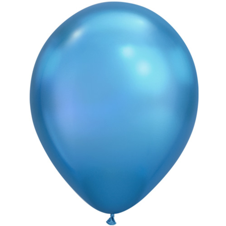 Latex Balloons - Chrome Blue (Ea) 30cm