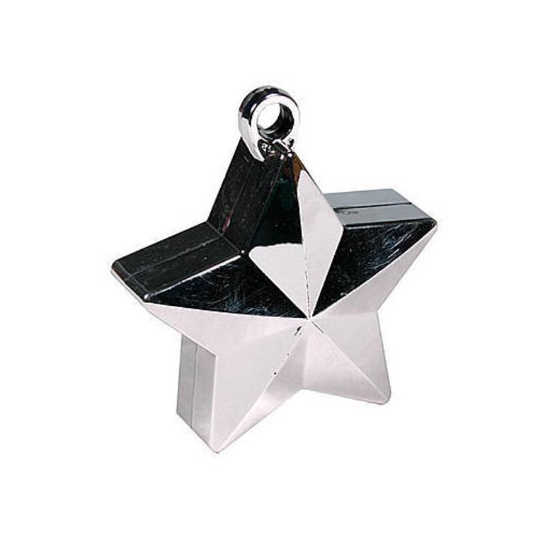 Star Balloon Weights - Silver Star