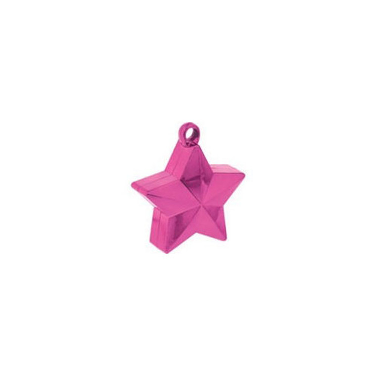 Star Balloon Weights - Pink (Hot) Star