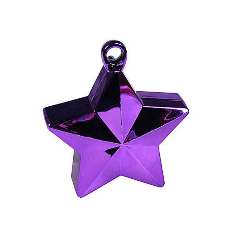 Star Balloon Weights - Purple Star
