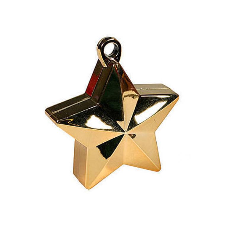 Star Balloon Weights - Gold Star