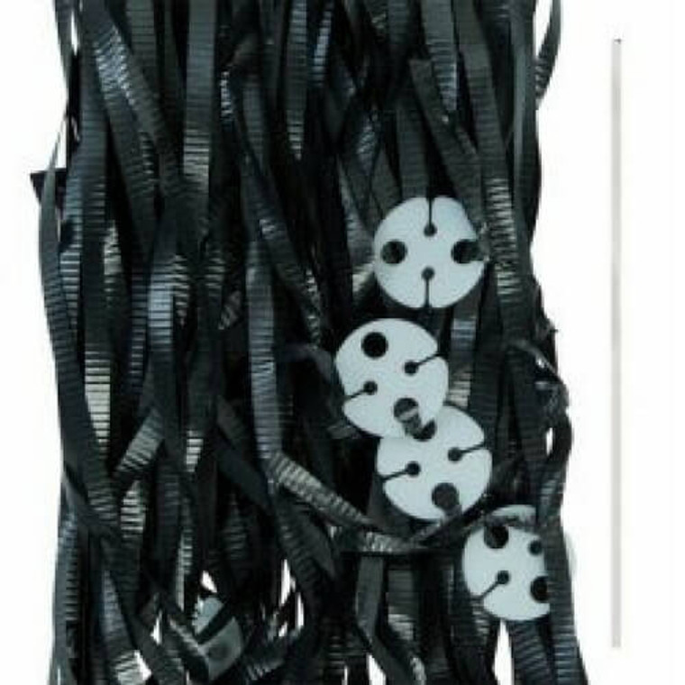 Black Ribbons with Clips