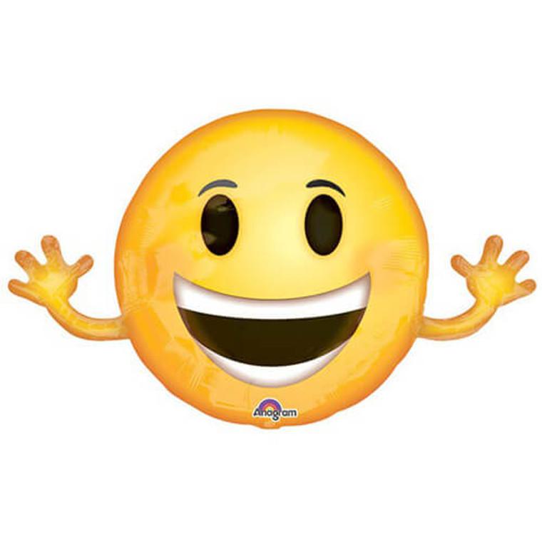 Supershape Balloon - Smiling Emoji & Arms