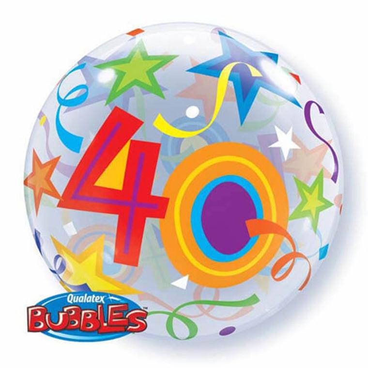 Bubble Balloon - 40th Birthday