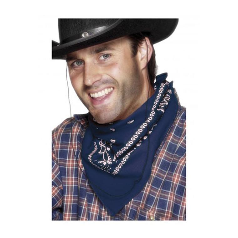 Western Cowboy - Blue Bandana Neckerchief