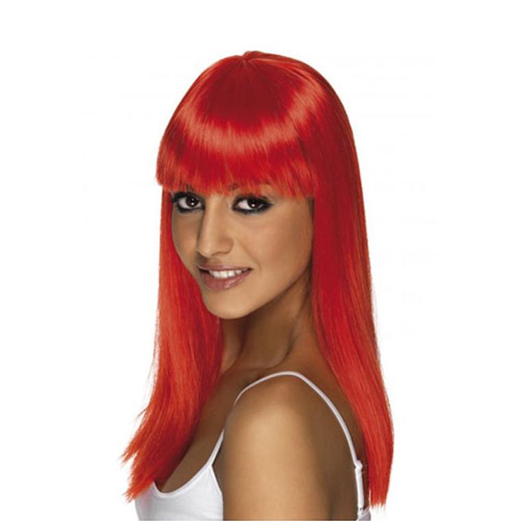 Womens Red Glamourama Wig