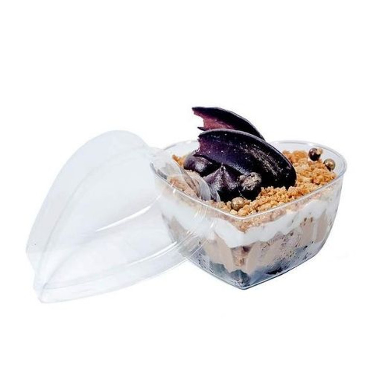 Heart Shaped Mini Dish W/Lid - Pk 25