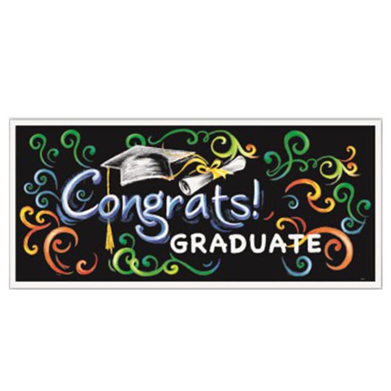 Graduation - Congrats Graduate Giant Banner 1.5m