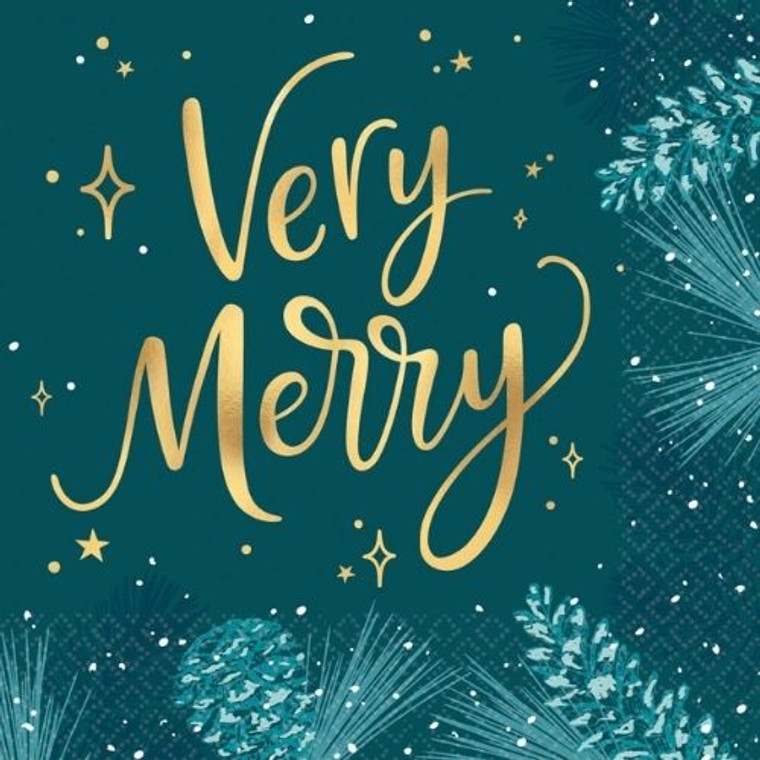 Very Merry Lunch Napkins Pk16