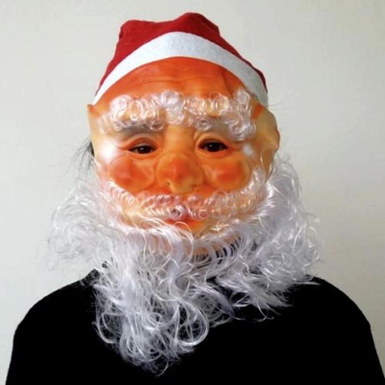 Santa Mask With Hat & Beard