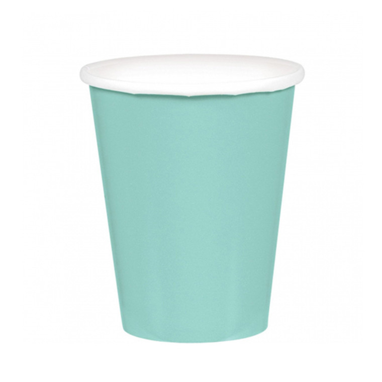 Robin's Egg Blue Paper Cups 20 Pack