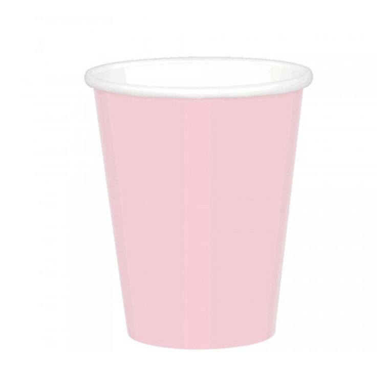 Blush Pink Paper Cups 20 Pack