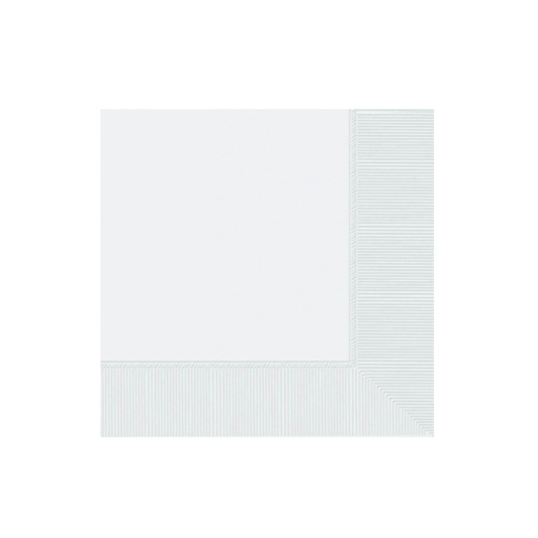 White Cocktail Napkins 20 Pack