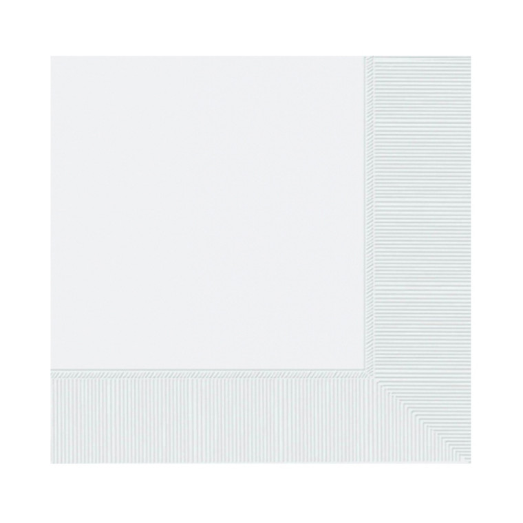 White Lunch Napkins 20 Pack