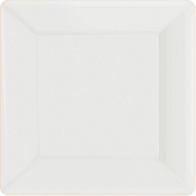 White Square Paper Banquet Plates 20 Pack