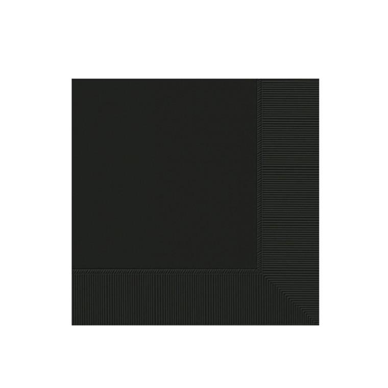 Black Cocktail Napkins 20 Pack