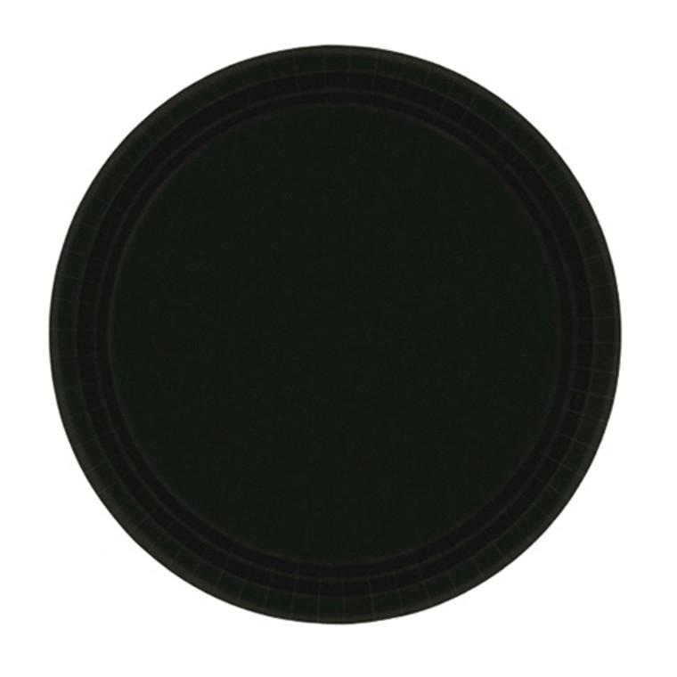 Black Round Paper Dinner Plates 20 Pack