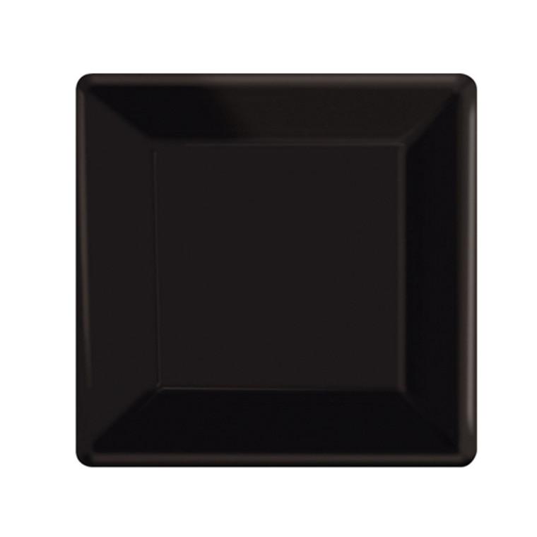Black Square Paper Dessert Plates 20 Pack