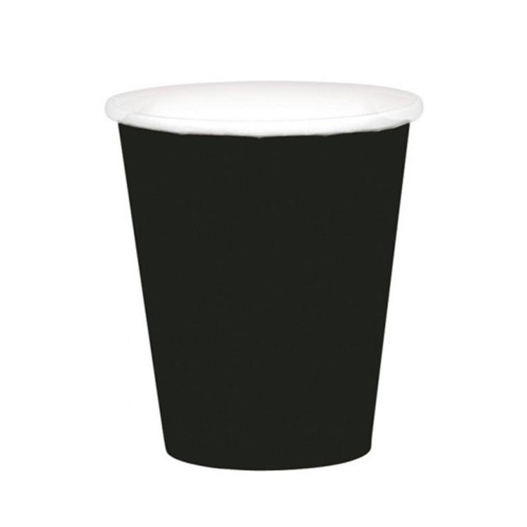Black Paper Cups 20 Pack