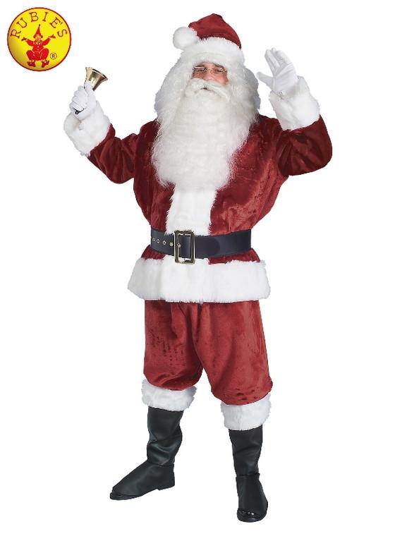 Santa Suit Crimson Plush Adult