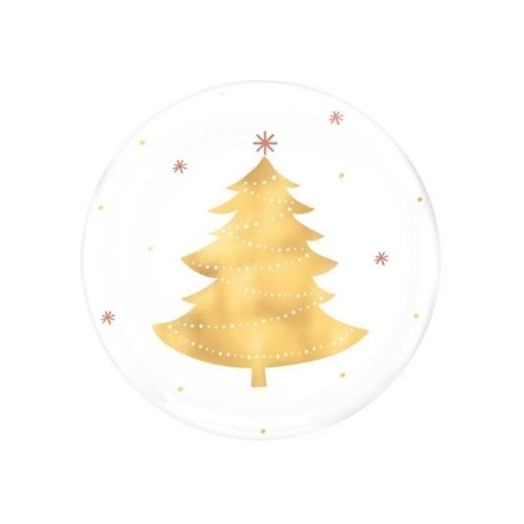 Christmas Tree Dessert Plates Pk 4