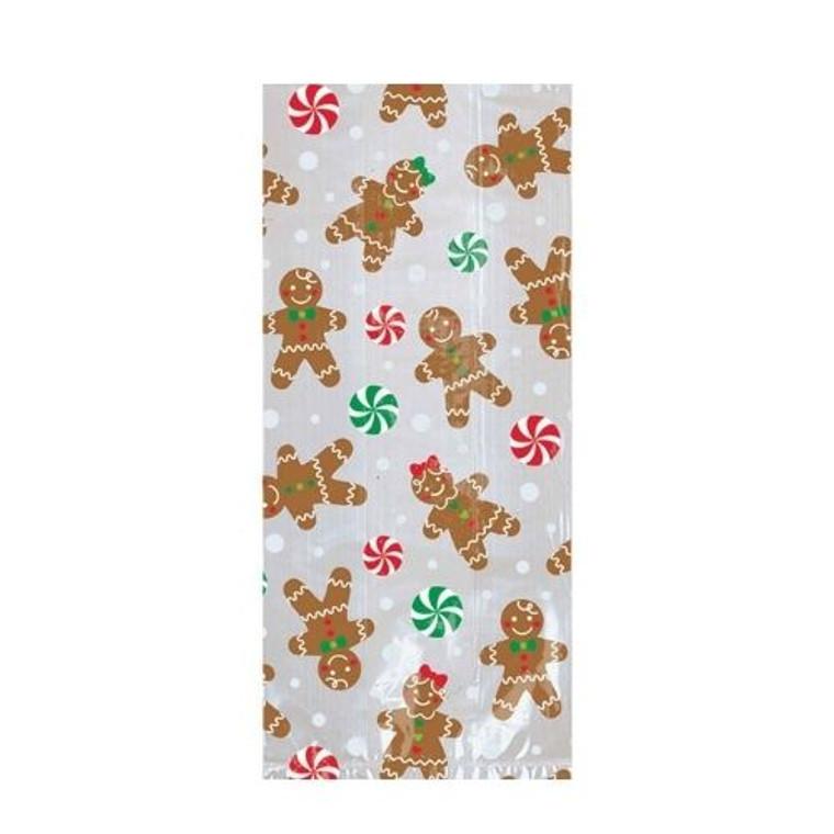 Gingerbread Men Cello Loot Bags - Small