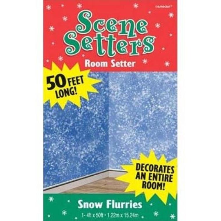 Snow Flurries Scene Setters Room Roll