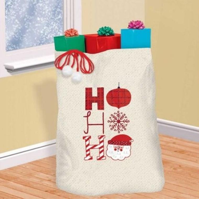 Christmas HO HO HO Canvas Gift Sack