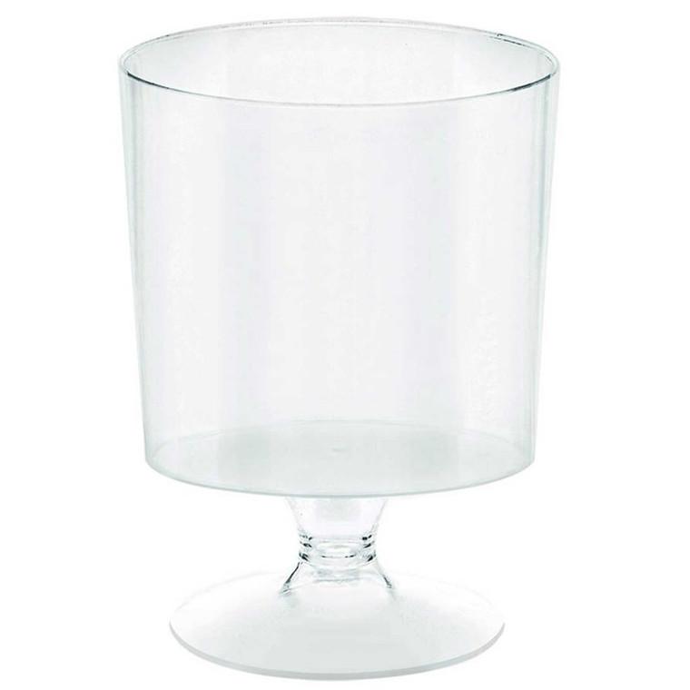 Clear Mini Pedestal Cups Pk 10