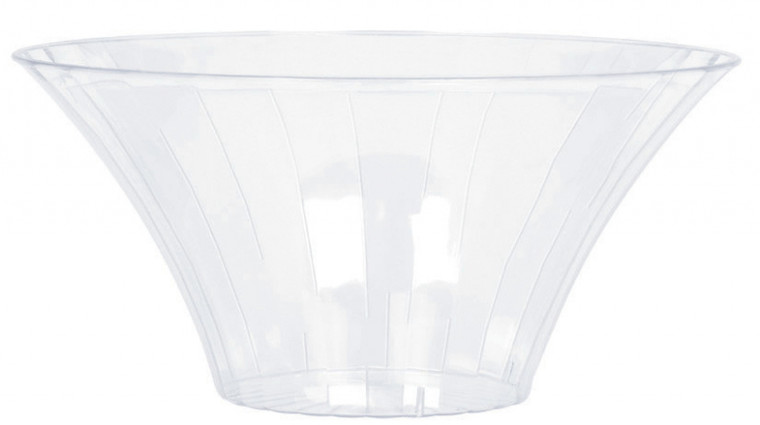 Clear Flared Bowl Plastic