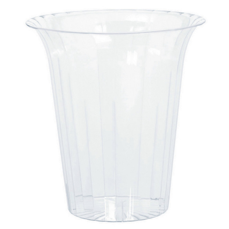Clear Large Flared Cylinder - Plastic