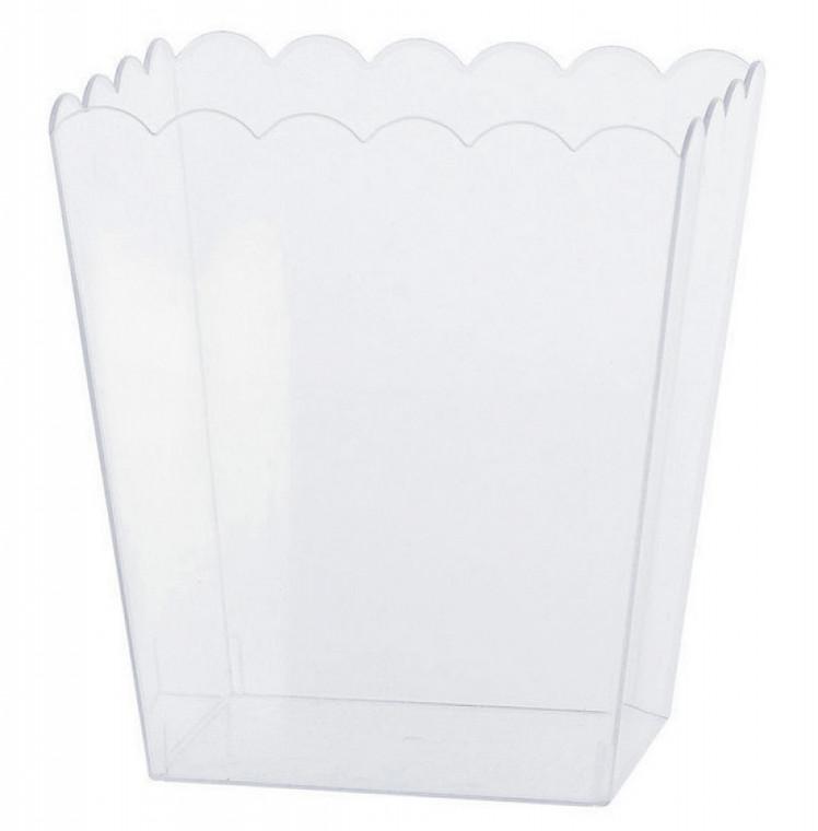 Medium Scalloped Container - Plastic